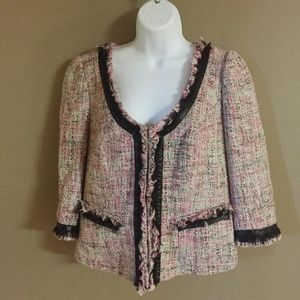 I.N.C Frayed Edge Tweed Blazer